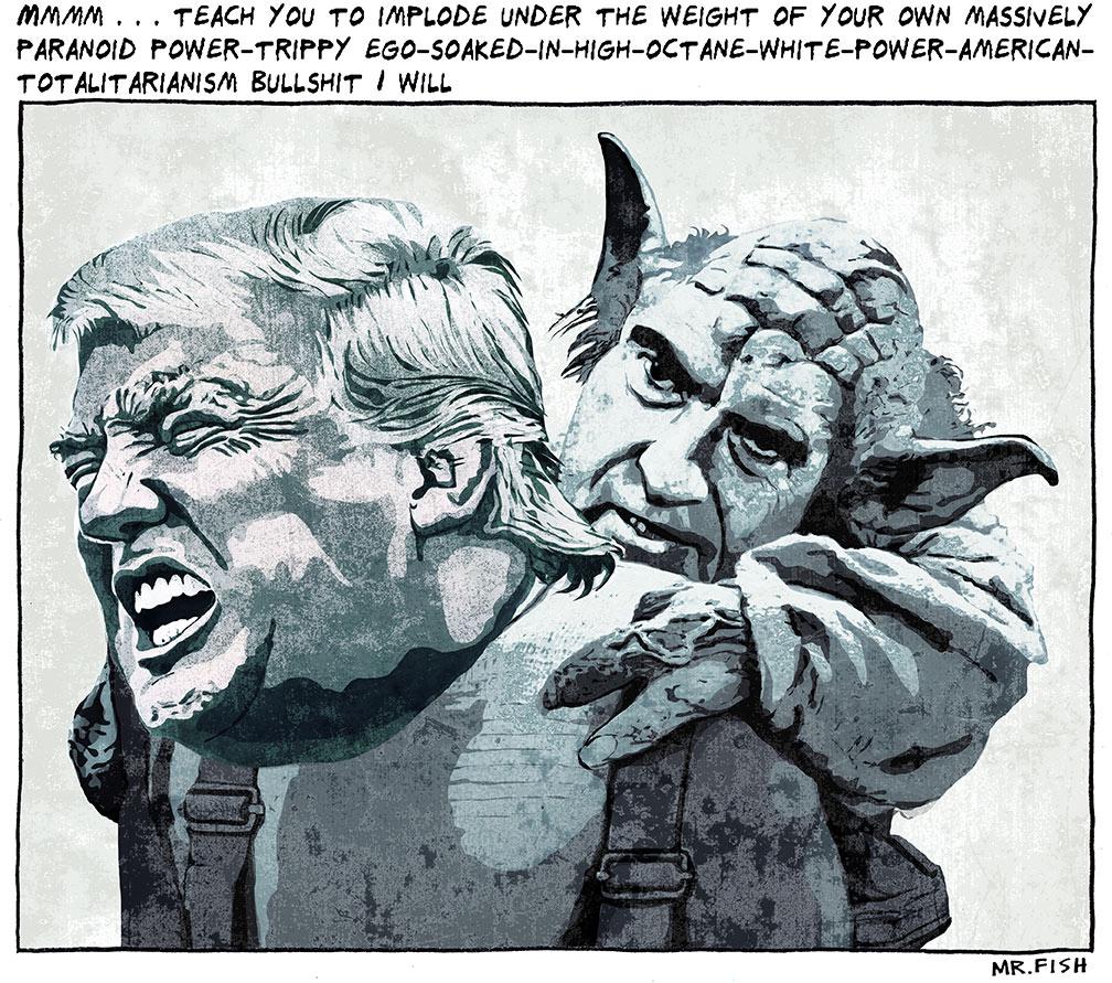 Mr. Fish Toon- Trump's Yoda - Democratic Underground